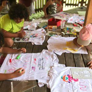 Denný tábor - maľovanie tričiek